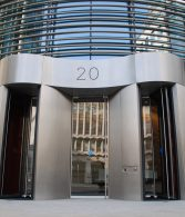 stainless steel revolving door