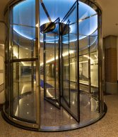 fire proof revolving door